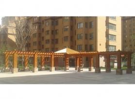 哈尔滨木质长廊